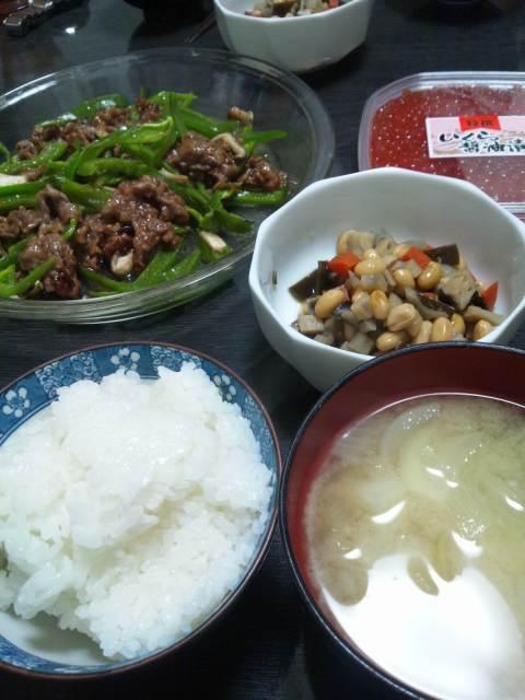 今夜の夕食♪