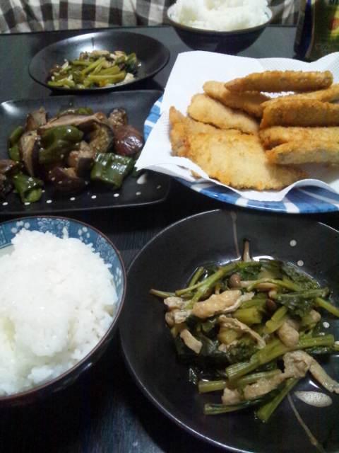 これから夕食♪今日は、早いね!