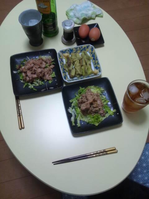 今夜の食卓♪(^-^)/