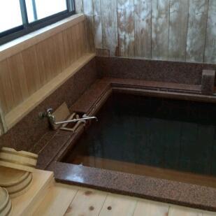 渋温泉、玉久旅館のお風呂