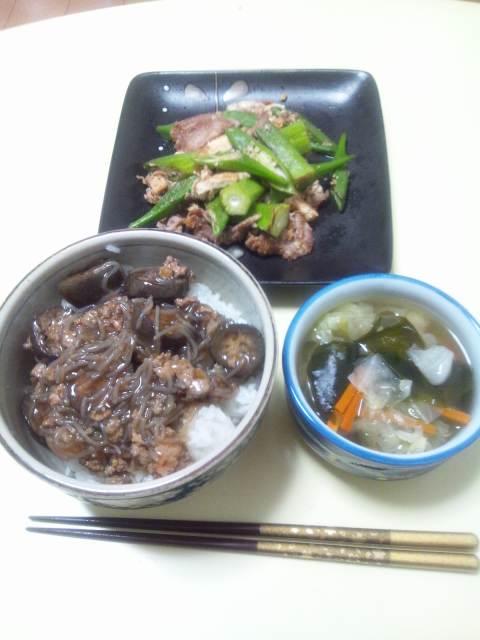 次郎さんの夕食と、私の夕食、というか、間食♪
