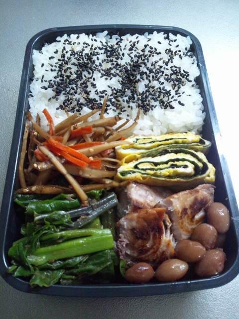 今日のお弁当(⌒‐⌒)