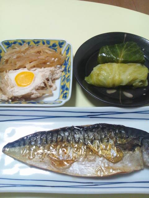 今日の次郎さんの夕食(^-^)v