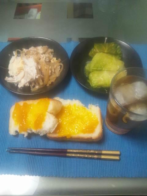 今日の夕食(^-^)v