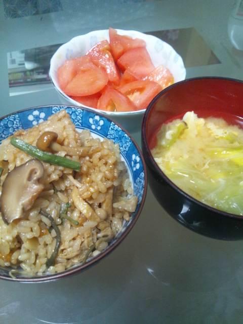 私のちょい早夕食(^-^)v